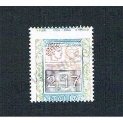 2002 Varietà Alto Valore 2,17€ - Dentellatura spostata