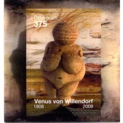 2008 Austria The Willendorf Venus 3D Unusual Stamp Lenticolare