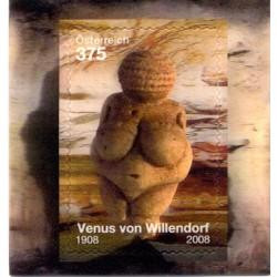 2008 Austria The Willendorf Venus 3D Unusual Stamp Lenticolare