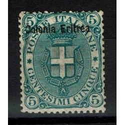 1893 Colonie Eritrea francobollo del Regno sovrastampato