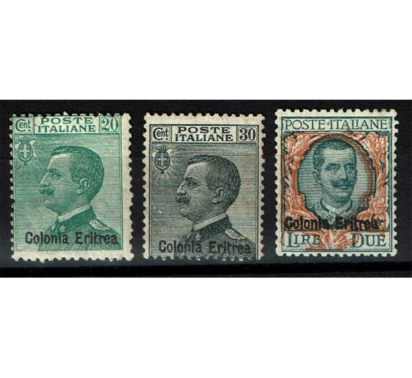 1925 Colonie Eritrea francobolli ordinari sovrastampati
