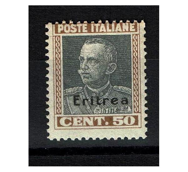 1928 Colonie Eritrea francobollo del Regno sovrastampato MNH/**