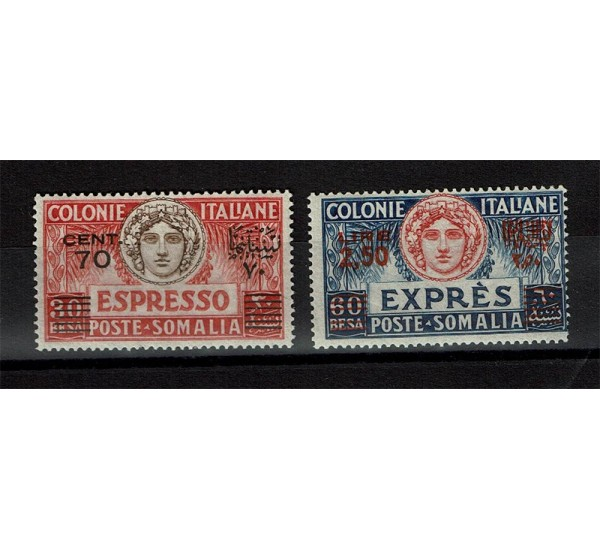 1926 Colonie Somalia Espressi sovrastampati MLH/*