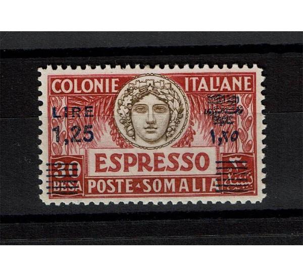 1927 Colonie Somalia Espresso 1,25 besa su 30 MLH/*