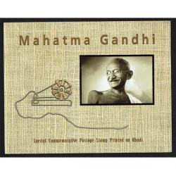 2011 India Folder Mahatma Gandhi cotone (KHADI ) Unusual