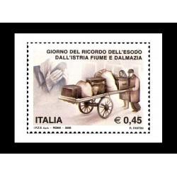 2005 Esodo dall'Istria Fiume e Dalmazia MNH/**
