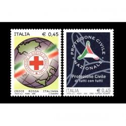2005 Croce rossa italiana e protezione civile MNH/**