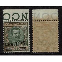 1924 Regno 1,75 su 10 lire floreale Sas.182 Nuovo MNH/**