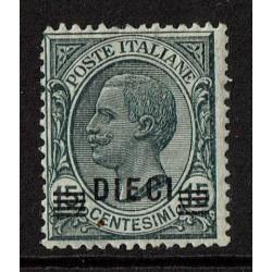 1924 Regno 10c su 15c Leoni Sas.175 Nuovo MNH/**