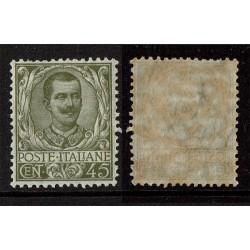 1901 Regno Floreale 45cent Sas.75 Nuovo MNH/**