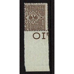 1901 Regno Floreale 1cent Sas.68 Nuovo MNH/**