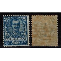 1901 Regno Floreale 25 cent Sas.73 Nuovo MNH/** Diena
