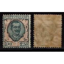 1926 Regno Floreale 2,50 Lire Sas.203 Nuovo MNH/**