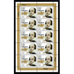 2014 Vaticano William Shakespeare Minifoglio MNH/**
