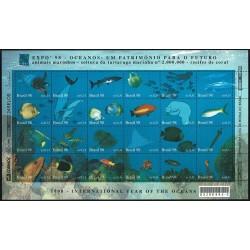 1998 Brasile EXPO '98 Anno dell'Oceano - tematica pesci