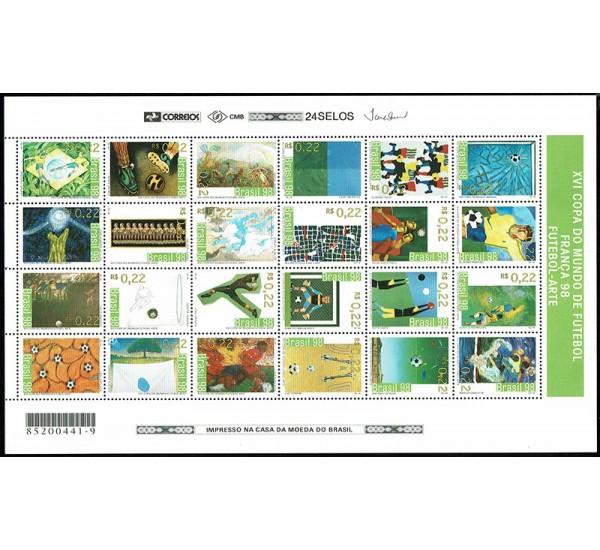 1998 Brasile Mondiali di Calcio Francia '98 minifoglio