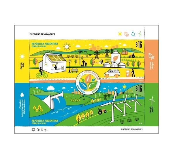 2018 Argentina Energie Rinnovabili foglietto