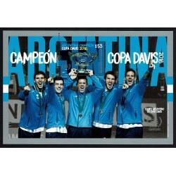 2017 Argentina Campioni della Coppa Devis 2016 Foglietto