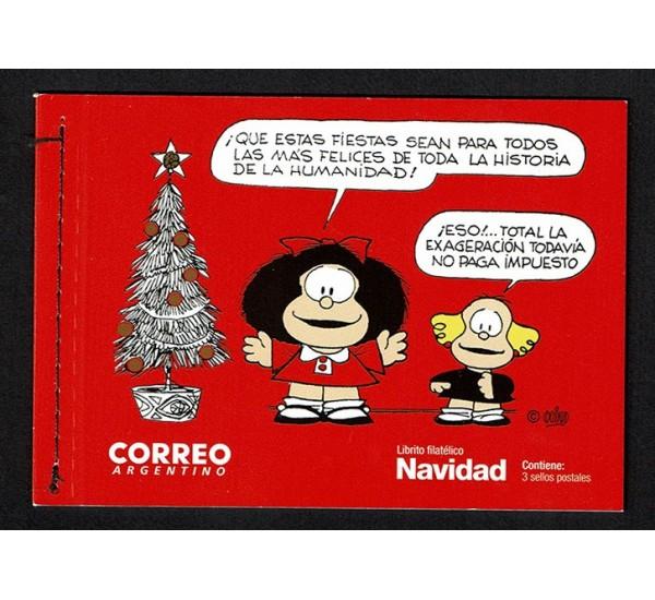 Immagini Di Mafalda A Natale.Francobolli 2017 Argentina Libretto Natale Mafalda Comic