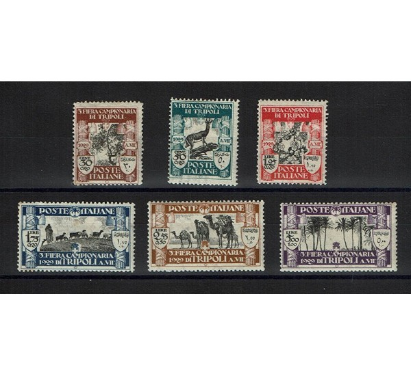 1929 Colonie Libia - 3° fiera di Tripoli MH/*