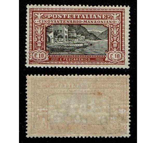 1923 Regno Manzoni 10cent Sas.151 MLH/*