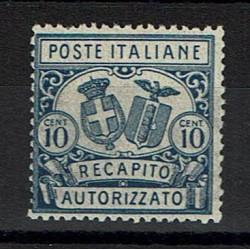 1928 Regno Recapito Autorizzato 10c Sas.2 D14 MNH/**