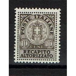 1928 Regno Recapito Autorizzato 10c Sas.3 MNH/**