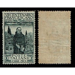 1926 S.Francesco 30 cent Sas.193 MNH/** D13-1/2