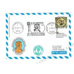 1991 Ballonpost n.85 Mongolfiera D-Ergee V da Salisburgo
