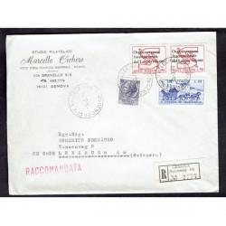 1970 Raccomandata da Genova a Lenzburg Svizzera