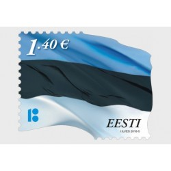 2018 Estonia serie ordinaria bandiera (unusual)
