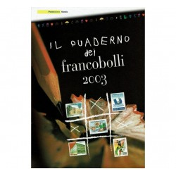 Il Quaderno dei francobolli completo 2003