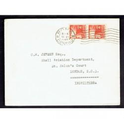 1949 Lettera Stampe da Roma a Londra 4Lire Democratica