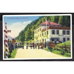 1932 Cartolina FP Confine Passo del Brennero viaggiata Germania