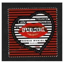 2018 Francia Sonia Rykiel unusual stamps forma di cuore
