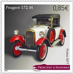 2017 Andorra Peugeot 172M - Automobili MNH/**