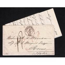 1858 Prefilatelica da Ermatingen (Svizzera) a Roma