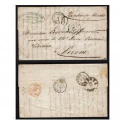 1859 Prefilatelica da Lione a Verona via Parigi - Cormon Blanc