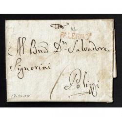 1804 Prefilatelica da Palermo a Polizzi