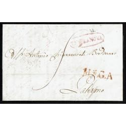 1839 Prefilatelica da Terranova a Palermo annullo MSGA
