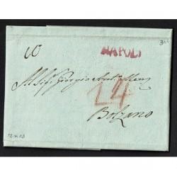1803 Prefilatelica da Napoli a Bolzano con testo