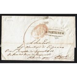 1856 Prefilatelica da Vizzini a Napoli annullo AGDP