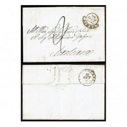 1845 Prefiatelica da Siena a Sarteano con testo - Radicofani