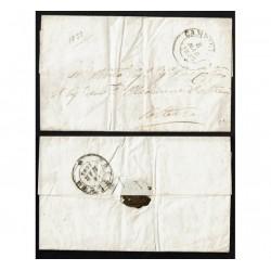 1853 Prefilatelica da Campiglia a Volterra con Testo