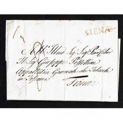 1836 Prefilatelica da Siena a Firenze Vollmeier 22/4