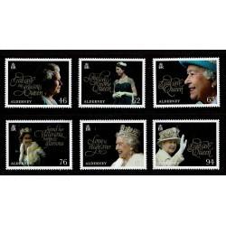2018 Alderney 65° incoranazione regina Elisabetta serie MNH/**