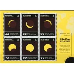2017 Alderney Eclissi unusual stamp termico foglietto
