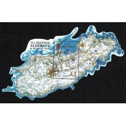 2017 Alderney mappa Alderney e Burhou foglietto MNH/**