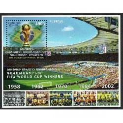 2017 Armenia Brasile Mondiali di Calcio foglietto