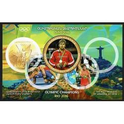 2017 Armenia Rio 2016 Artur Aleksanyan foglietto MNH/**